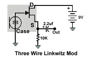 3 wire Linkwitz mod of Panasonic WM-61A capsule