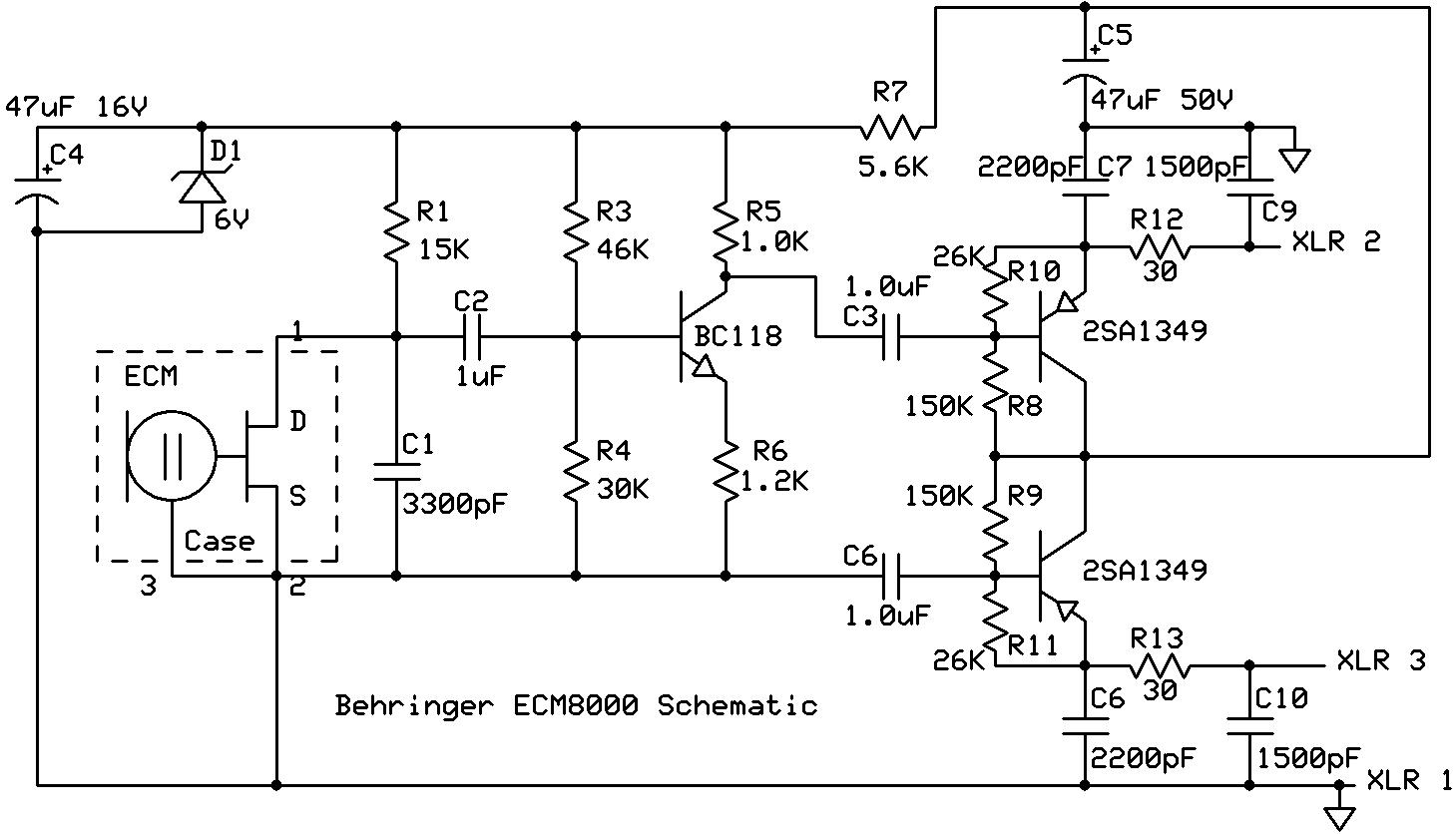 ECM8000 Mic Schematic