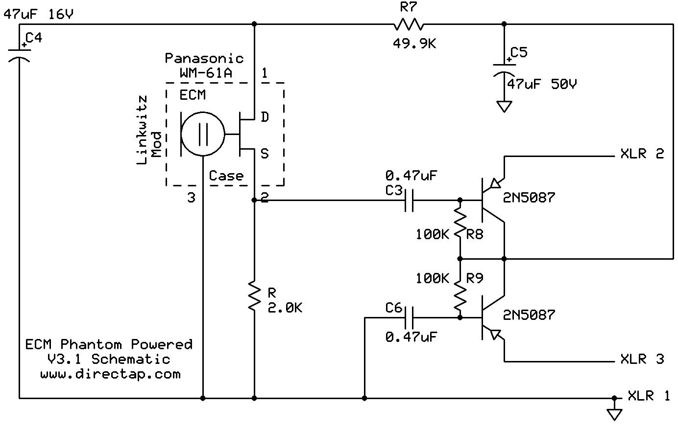 ECM8000 Modifed Schematic